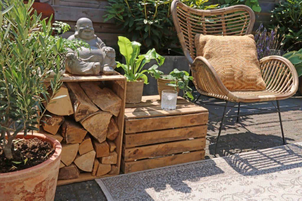 houten fruitkisten thuisindetuin