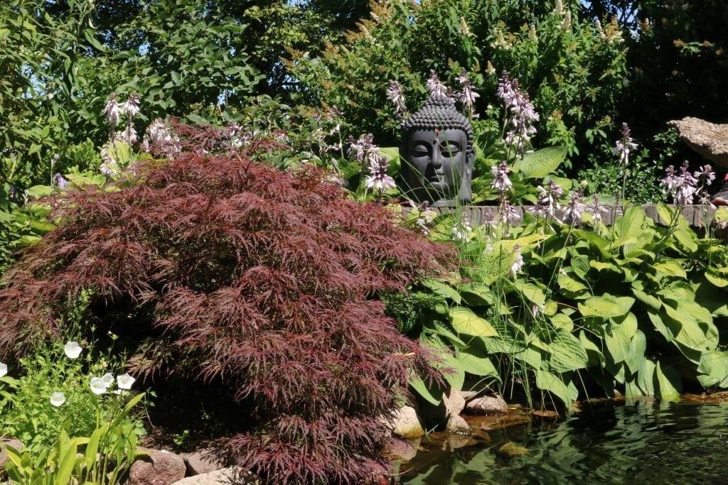 boeddha beelden thuis in de tuin fiber clay inspiratie