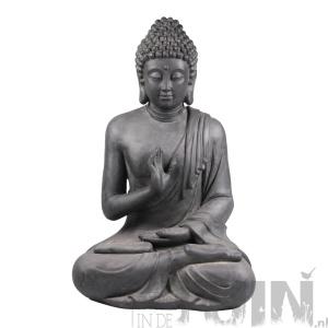 BoeddhaBeeld Gerechtigheid Antraciet Tuinbeeld