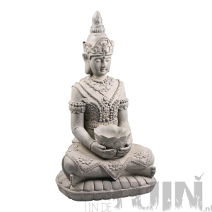 Boeddha beeld kwan yin met bak