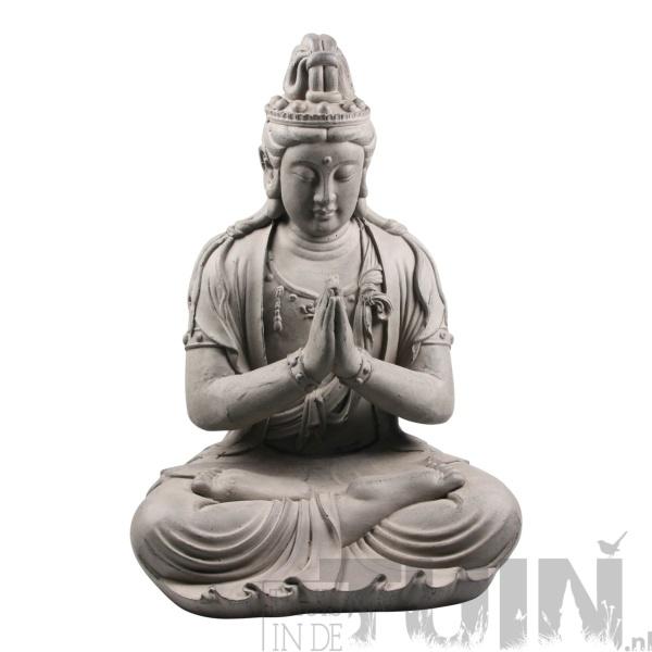 Boeddha beeld kwan yin zit