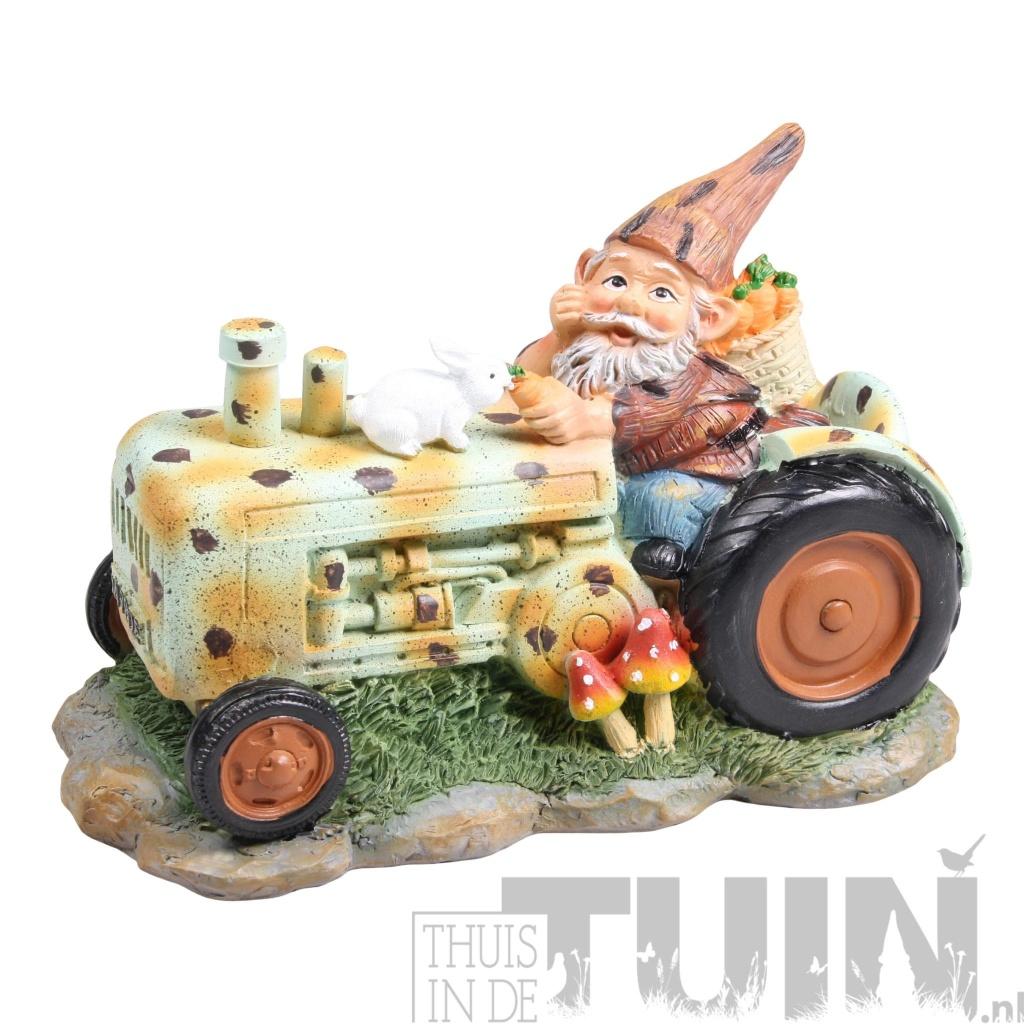 tuinkabouter tractor groen