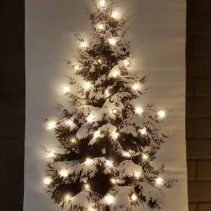 LED CANVAS KERSTBOOM 65X107CM