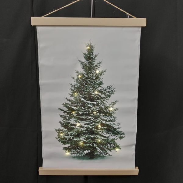 WANDDECORATIE CANVAS KERSTBOOM LED 04