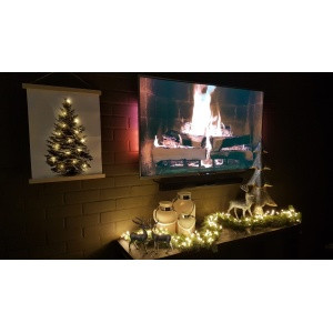 WANDDECORATIE CANVAS KERSTBOOM LED-1