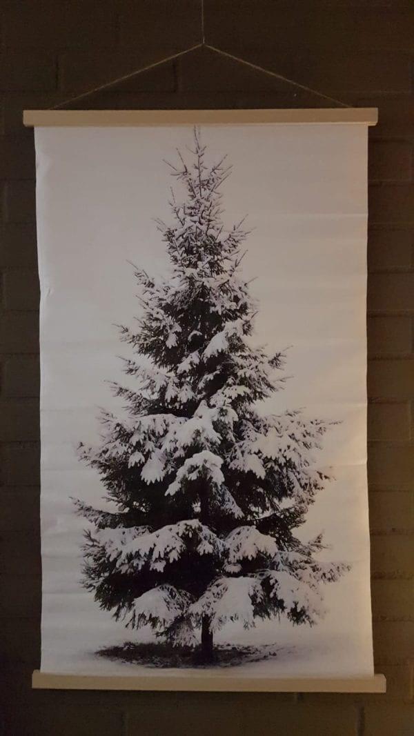 kerstboom op doek met lichtjes www.thuisindetuin.nl