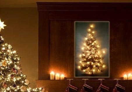wanddecoratie canvas kerstboom led sfeerfoto thuisindetuin.nl01