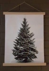 kerstboom op doek met lampjes