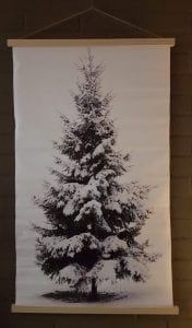 kerstboom op doek met lichtjes groot
