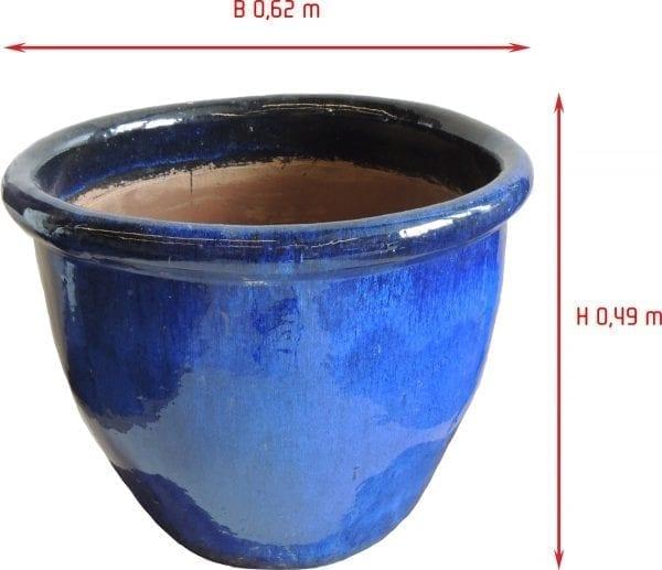 grote blooempot blauw glazuur thuisindetuin.nl 01