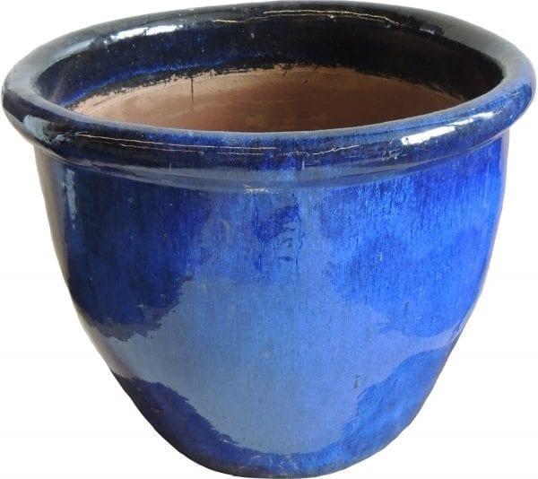grote blooempot blauw glazuur thuisindetuin.nl 02