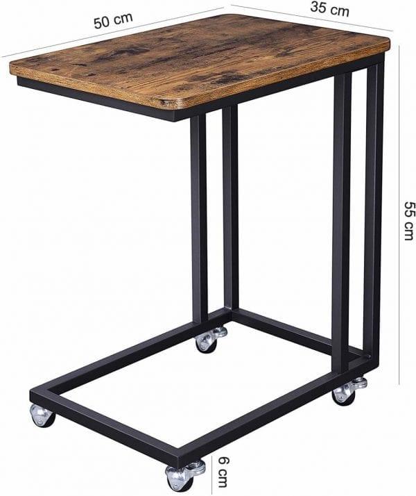 houten bijzettafel metaal onderstel koop je bij thuisindetuin.nl 3
