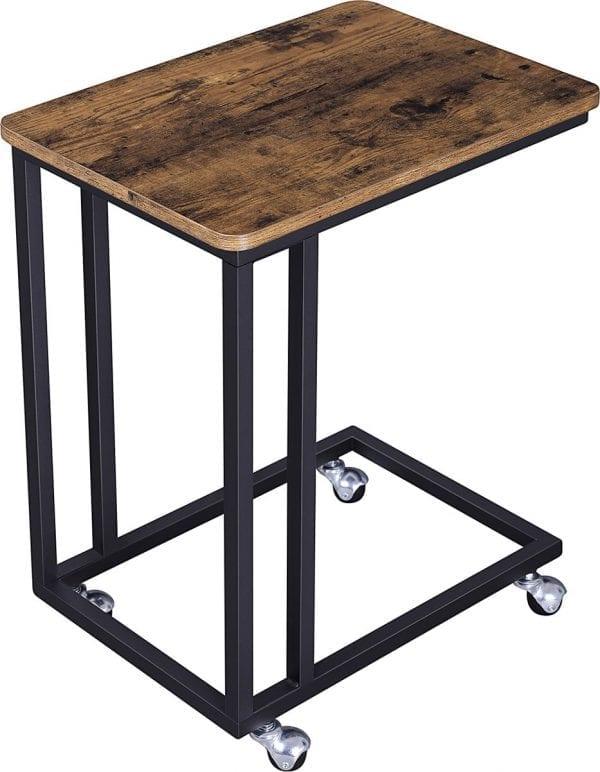 houten bijzettafel metaal onderstel koop je bij thuisindetuin.nl