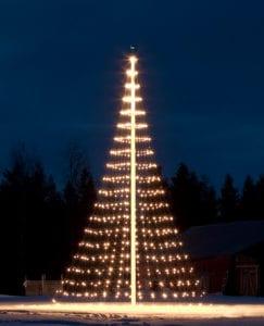 Kerst in de Tuin met een Kerstboom voor buiten