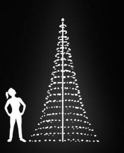 kerstboom voor buiten 600 cm zonder mast